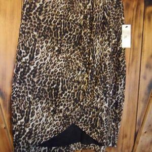 Leopard wrap  skirt-size 12